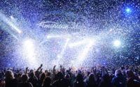 American Idol finale as confetti falls