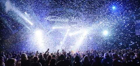 American Idol finale as confetti falls