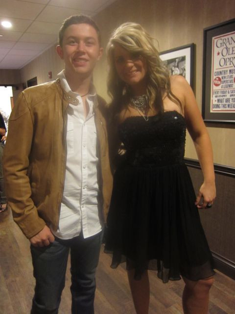 Scotty McCreery and Lauren Alaina at Grand Ole Opry