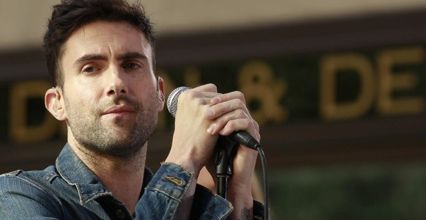 """Maroon 5's lead singer Adam Levine performs with his band on NBC's """"Today"""" show in New York"""