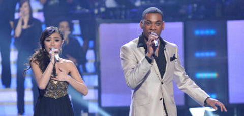 American Idol 2012 Jessica Sanchez and Joshua Ledet