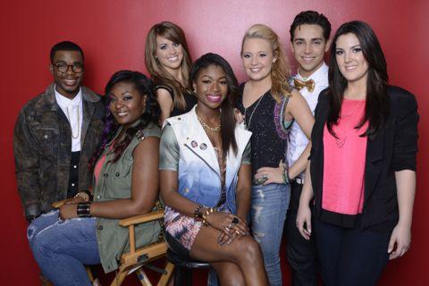 Top 7 finalists on American Idol 2013
