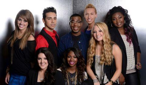 The Top 8 on American Idol