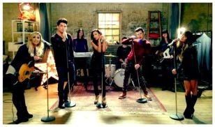 Glee cast with Adam Lambert