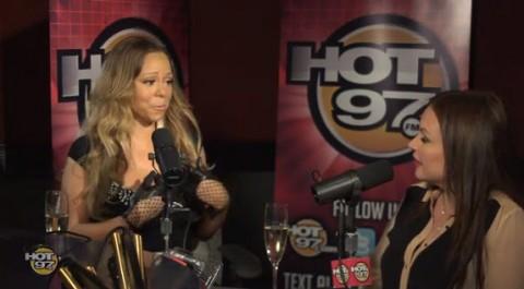 Mariah Carey on Hot 97 - Source: YouTube