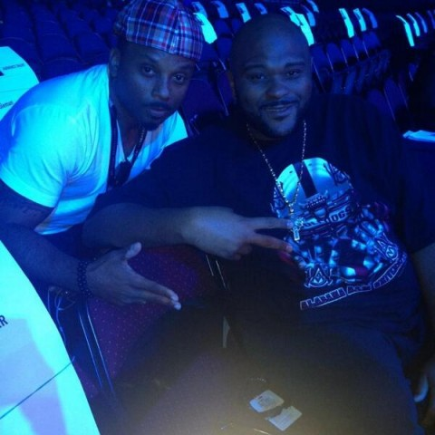 Ruben Studdard and Carl Payne at the Soul Train Awards