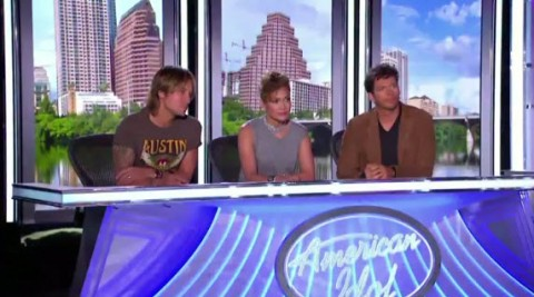 American Idol 2014 judges Keith Urban, Jennifer Lopez, and Harry Connick Jr. - Source: Fox/YouTube