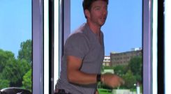 Harry Connick Jr gets out of his seat