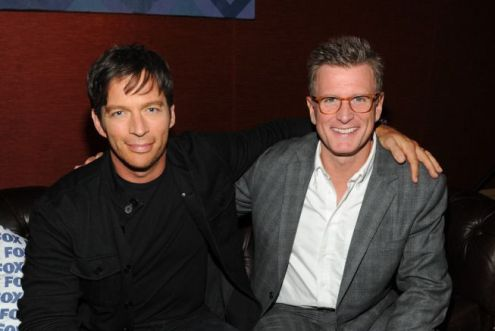 Harry Connick Jr. poses with FOX's Kevin Reilly