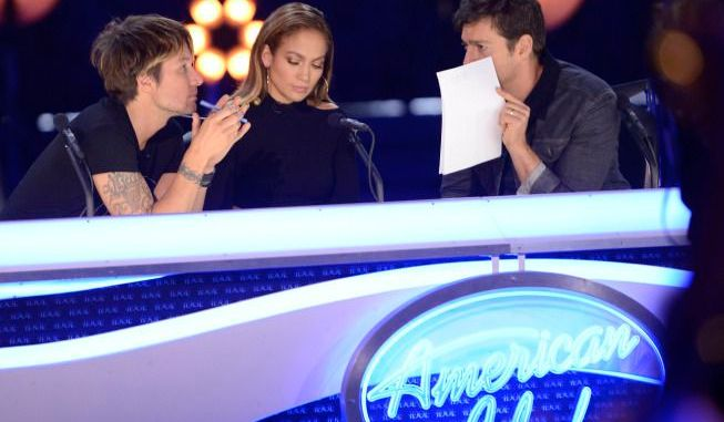 Judges confer on American Idol Season 13