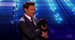 American Idol 2014 Top 2 Results - Ryan Seacrest and puppy Georgia