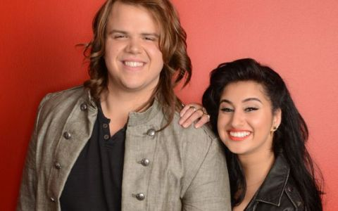 Caleb Johnson and Jena Irene on American Idol 2014