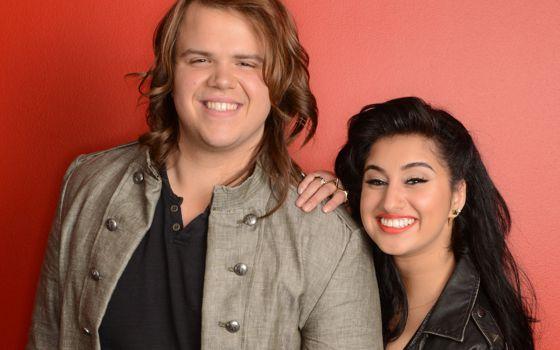 Caleb Johnson and Jena Irene on American Idol 2014