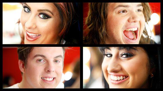 American Idol 2014 Top 4 portraits