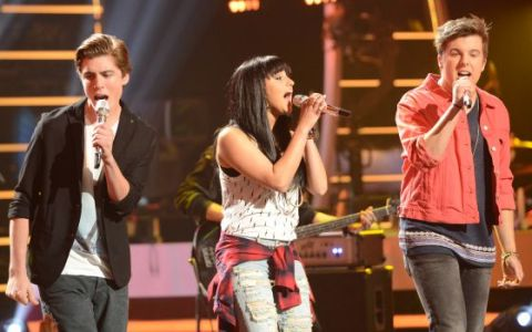 Sam, Jena Irene, and Alex perform on American Idol