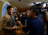 Adam Lambert stands in for Keith Urban at auditions