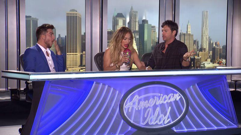 Adam Lambert at American Idol 2015 auditions – 01