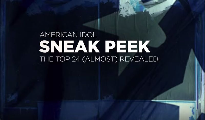 Sneak Peek listen to American Idol Top 24