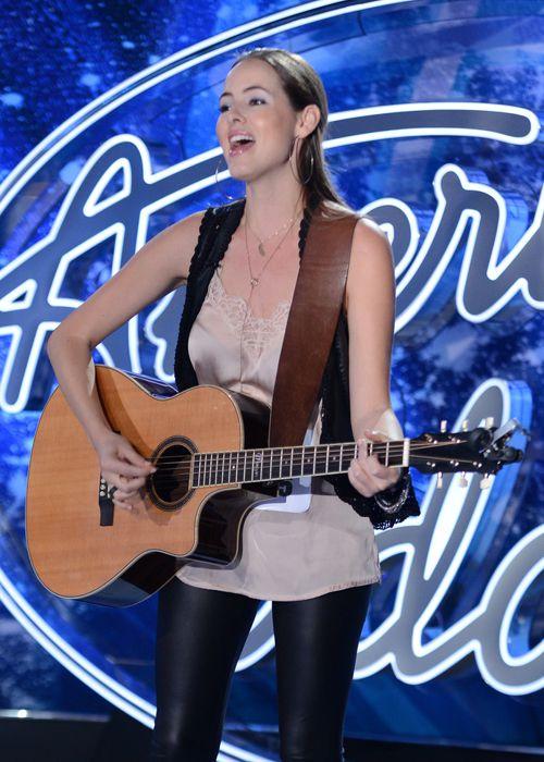 Morgan Ovens performs on American Idol
