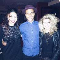 Rayvon Owen with Jordin Sparks