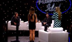 Maddie Walker & Rachel Hallack with the American Idol Judges