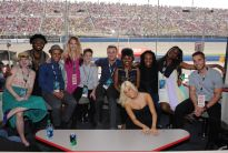 Top 11 AMERICAN IDOL contestants attend the AUTO CLUB 400