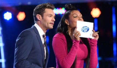 American Idol host Ryan Seacrest & Taraji Penda Henson