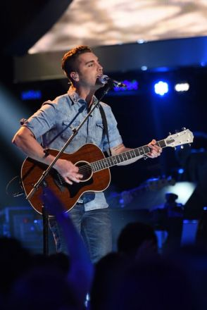 Nick Fradiani performs on AMERICAN IDOL XIV
