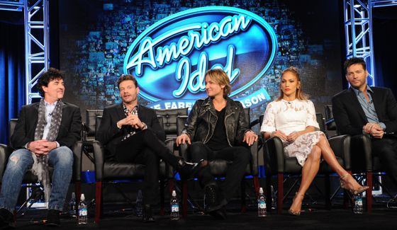American Idol judges, host, & mentor at TCA 2016