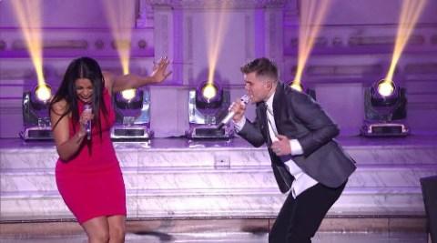 Jordin Sparks & Trent Harmon American Idol Top 24 duet (FOX)