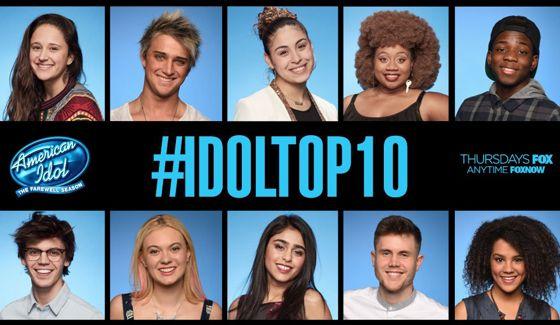 American Idol Top 10 on Season 15