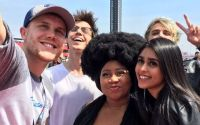 American Idol's Top 5 at the NASCAR race