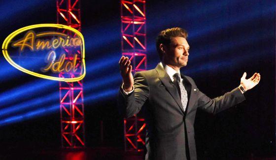 Ryan Seacrest on the American Idol stage