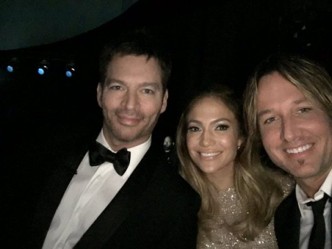 The final American Idol judges on the last night of the series. (FOX)