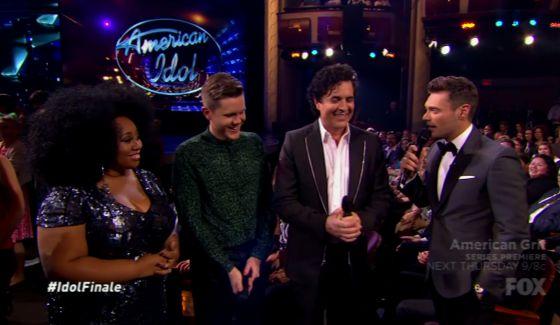 La'Porsha, Trent, Borchetta, and Ryan Seacrest on Idol Finale