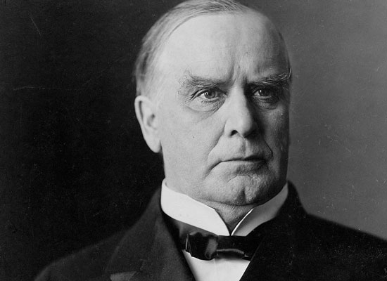 Photograph of President William McKinley in 1900