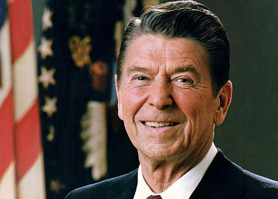 Official photographic portrait of Ronald Reagan