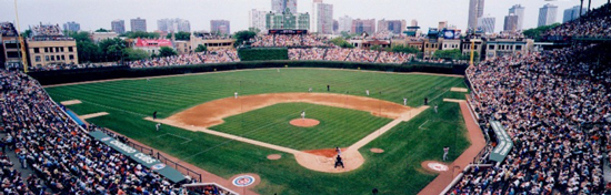 Panoramic photograph of Wrigley Field by Bob Horsch