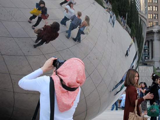 Snapping the bean (Credit: Susan Barsy)
