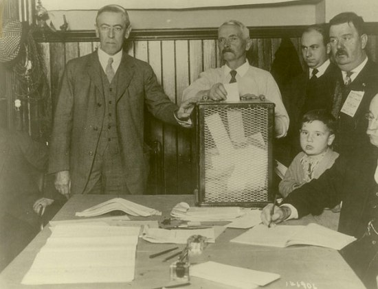 Woodrow Wilson Casts His Ballot, 1912 (Courtesy Princeton University Library via Flickr Commons)