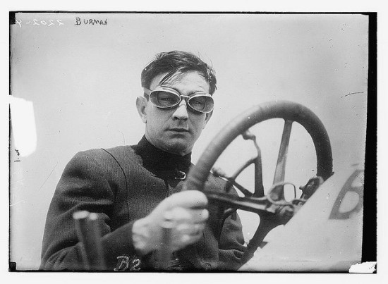 Speed racer Bob Burman, circa 1915 (Courtesy Library of Congress via the Commons on Flickr)