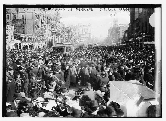 Pandemonium before the suffrage parade