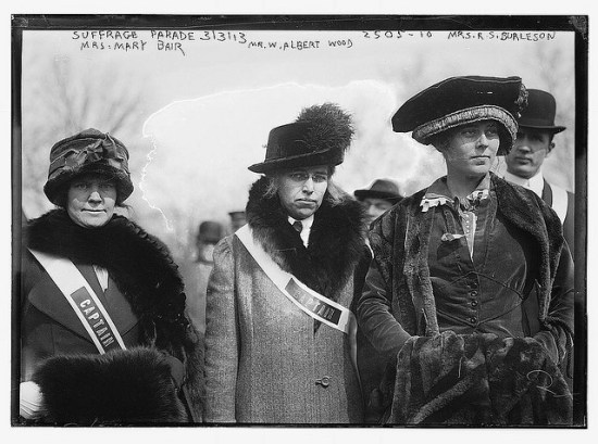 Captains of the women's suffrage parade (Courtesy Library of Congress via the Commons on Flickr))