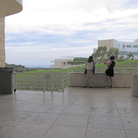 Looking west from a terrace at the Getty, © 2014 Susan Barsy
