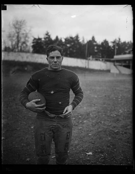 Lone football player (Courtesy of the Library of Congress)