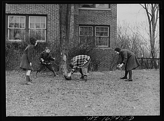 Touch football (Courtesy of the Library of Congress)