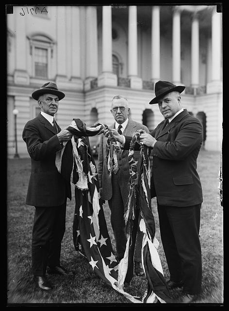 Flag flying above House of Representatives, Jan 1917 (Courtesy Library of Congress)