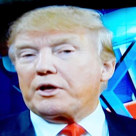 Trump being interviewed after the 5th GOP debate.