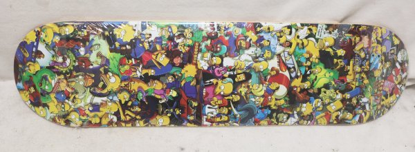 Simpsons Skateboard Deck bottom view