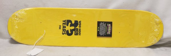 Simpsons 25th Anniversary Yellow Greatest Moments Skateboard Deck